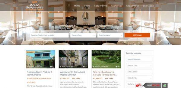 Lucia Guimarães Projeto Website Imobiliário